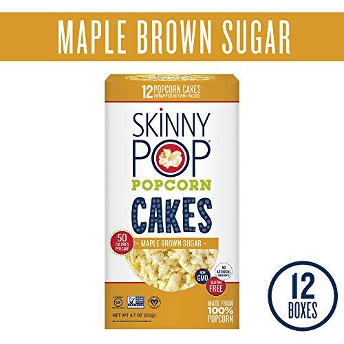 (SkinnyPop Popcorn Cakes, Maple Brown Sugar Popcorn Cakes, 4.7 Ounce (Pack of)
