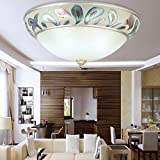 LED ceramic bedroom ceiling light ( Size : 50cm )