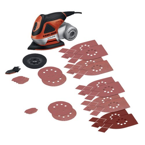 Cyclonic Dust Collection (Black & Decker MS1000 Cyclone 1.4 Amp Orbital 4-in-1 Multi Sander)