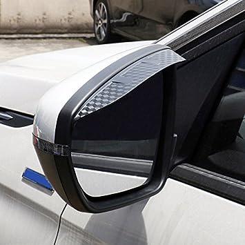 High Flying Äußere Kunststoff Rückspiegel Seitenspiegel Windabweiser 2 Stück Für 3008 5008 2018 2020 Auto