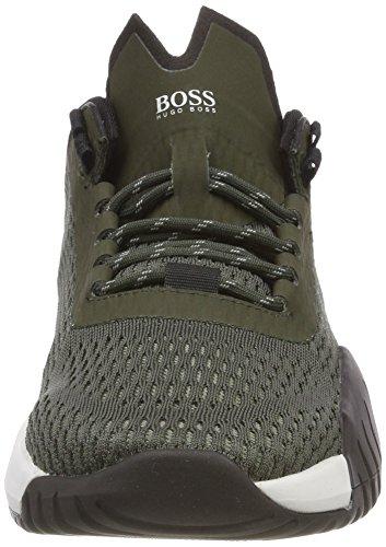 Runn Herren BOSS Sneaker Storm Dark Act Grün 301 Green rvEqvd