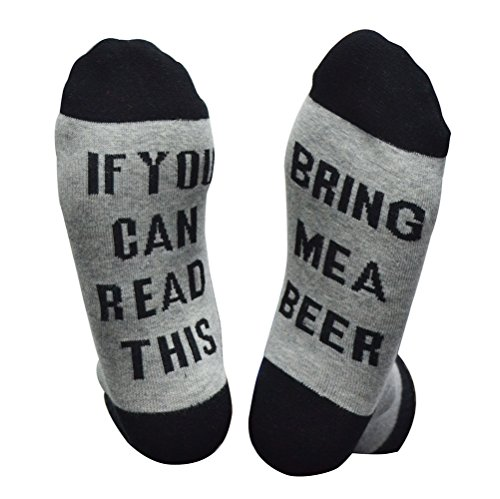 Mayskey Cotton Socks-IF You Can Read This PLEASE Bring Me Some Wine,Perfect Birthday or Christmas Gift for Wine Lovers,Friends and Family (Bear Socks)