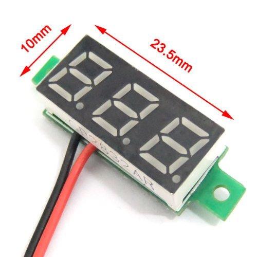 Droking Mini 0.28 Num/érique Tension M/ètre DC 2.5 ~ 30 V Volt Testeur LED Voltm/ètre Panneau 2 Fils Voiture Moto Batterie Moniteur Jauge