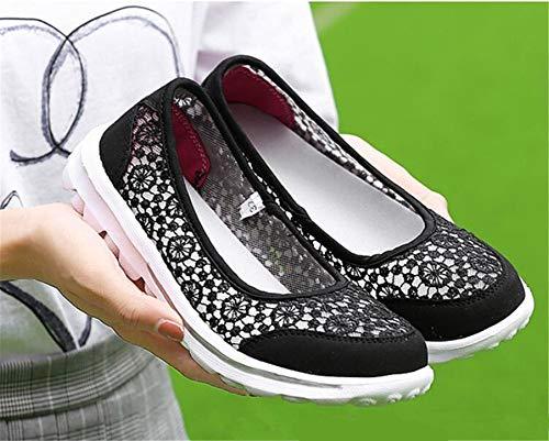 Loafers Ginnastica Mocassini Corsa Shoe Scarpa Mesh Black Loafer Donna Traspirante Scarpe Qzx Air Da px7SHXIcwq