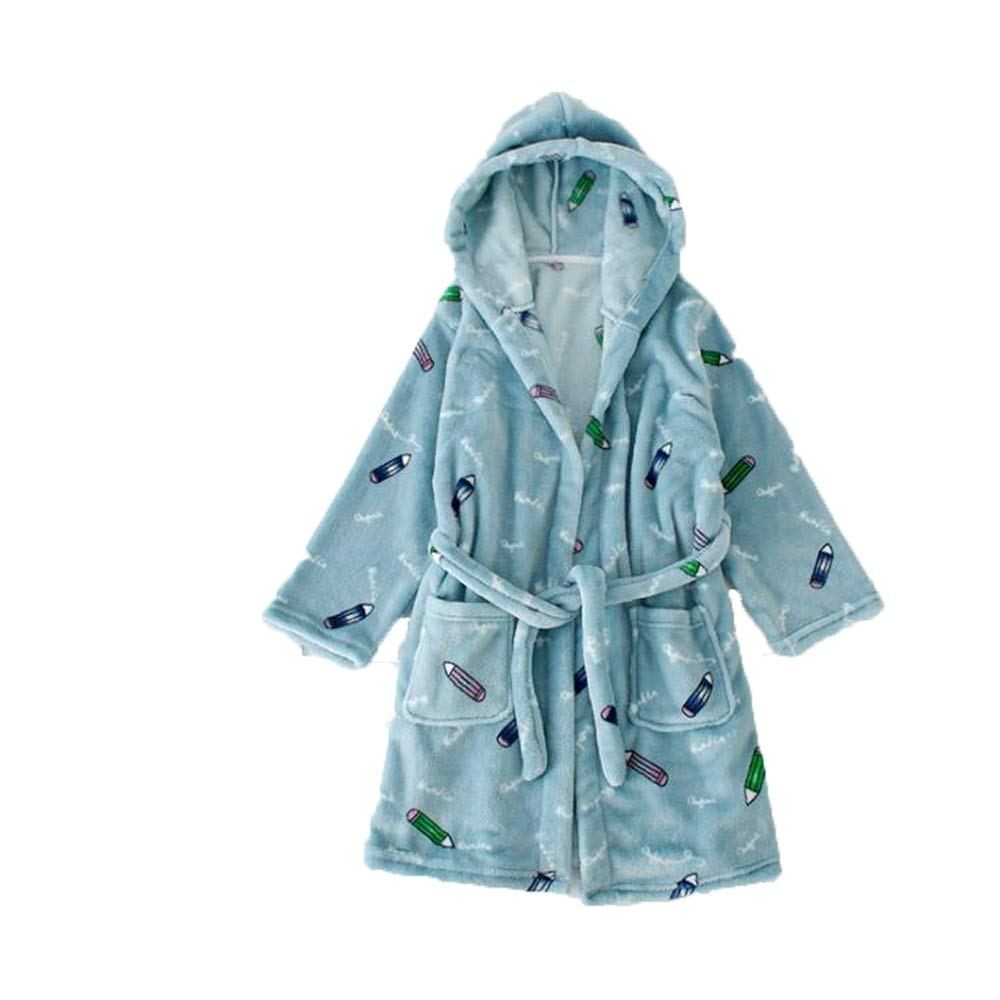 Queenmore Kids Hooded Fleece Bathrobes for Girls Cozy Cute Towels Plush Sleepwear