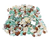 Skyflame 10-Pound Blended Fire Glass for Fire Pit Fireplace Landscaping, 1/2-Inch Gold, Light Green, Copper, Reflective