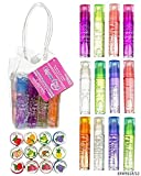 Expressions Girl 12 Piece Flavored Lip Gloss Collection in Carrying Case