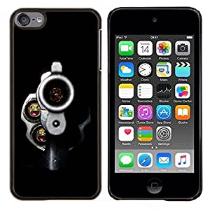 "For Apple iPod Touch 6 6th Touch6 , S-type Balas sonrientes Pistola"" - Arte & diseño plástico duro Fundas Cover Cubre Hard Case Cover"