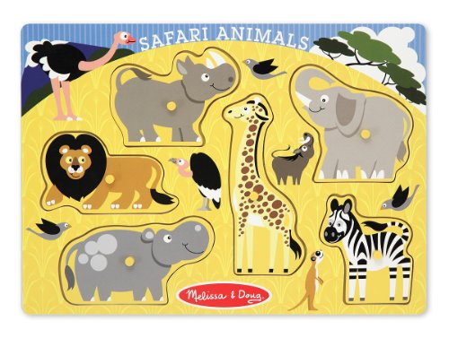 Melissa & Doug Zoo Peg - Melissa & Doug Safari Animals Peg Puzzle - 3385