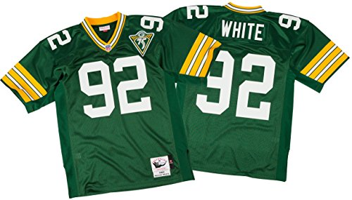 Mitchell & Ness Green Bay Packers 1993 Reggie White Authentic Throwback Jersey Size (Authentic Throwback White Jersey)