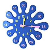 Water Drop Wall Clock Blue Kid Educational Home Decoration