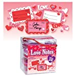 Make Your Own Valentines Foam Love Notes x 24 - Includes 2 Glitter Glue Pens