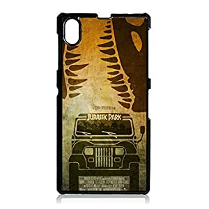 Fantasy Jurassic Park Sony Xperia Z1 Phone Case Cover,Fashionable Retro Style Dinosaur Movie Jurassic Park Case Cover Customized Protective Shell for Sony Xperia Z1