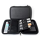 Chihom Travel Wallet Electronics Organizer, Portable Waterproof Hard Carrying Case Universal Electric Accessories Hand Bag for Various USB, Phone, Charger and Cable, Black