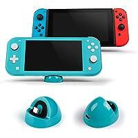 LEHOO Playstand de Cargador Compatible para Nintendo Switch y Lite, Estación de Carga de Soporte Compact Dock con Puerto Tipo C, para Otros Dispositivos de Interfaz Tipo C (Turquesa)