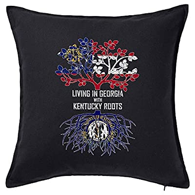 Tenacitee Living in Georgia with Kentucky Roots Pillow Cover