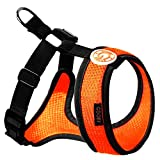 Gooby Choke Free Freedom Mesh Harness Specially Made for Small Dogs, Orange, X-Small