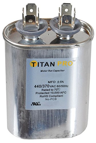 Motor Run - Motor Run Capacitor, 15 MFD, 3-9/16 In. H
