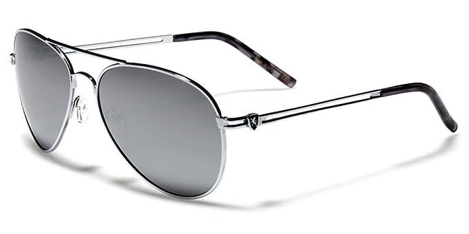 76c06e9149b Amazon.com  Full Mirror Lens Classic Retro Vintage Men s Aviator Pilot  Sunglasses Silver Gold  Clothing