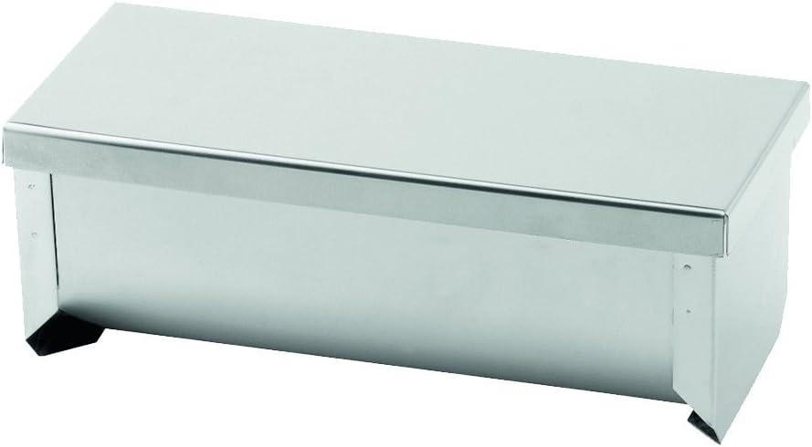 7.5 x 19 x 7 cm Weis Terrinenform Edelstahl Silber