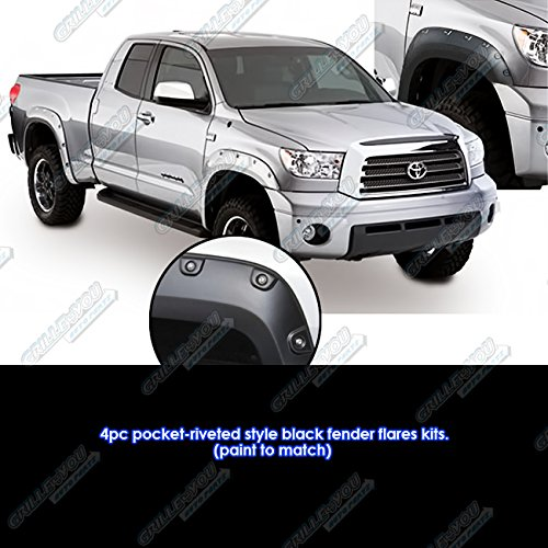Magnus Pocket Riveted ABS Fender Flares 4Pcs Fits 07-13 Toyota Tundra