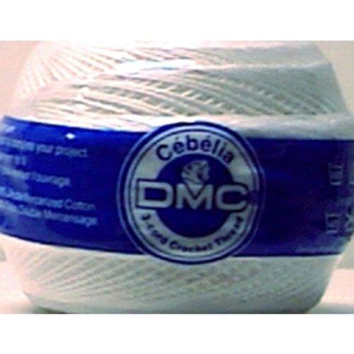 Crochet Doily Thread (DMC 167G 20-B5200 Cebelia Crochet Cotton, Bright White, 405-Yard, Size 20)