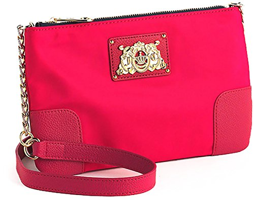 Juicy Couture Easy Everyday Nylon Lou Lou Crossbody YHRU3710 Cross Body Bag,HOT PINK,One Size (Pink Juicy Couture Purse)