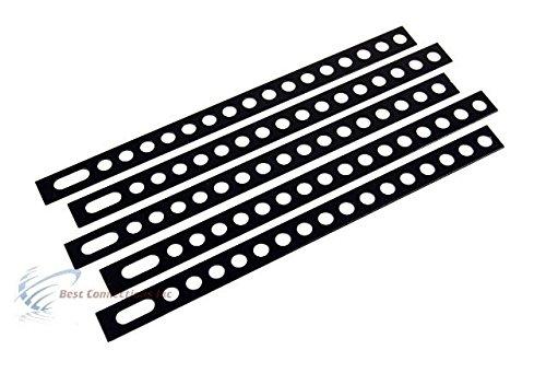 9 Black Backstrap Secures Door Lock /& Car Stereo Heavy Duty 10PCS BS9BK Install Bay