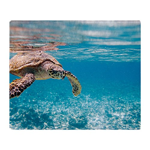 CafePress - Hawksbill Sea Turtle Swimming In Ind - Soft Fleece Throw Blanket, 50