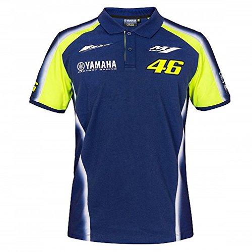 2018 VR46 Valentino Rossi #46 MotoGP Mens Team Polo Shirt Yamaha Factory Racing (Racing Mens Polo)