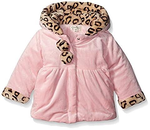 Jessica Simpson Baby Girls' Hi Loft Fleece Jacket, Pink, 3-6 Months - Hi Loft Fleece Jacket