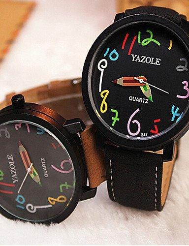 yazole considera el color de forma circular digital relojes hombre analógico de cuarzo Reloj de muñeca, diseño de regalo: Amazon.es: Relojes