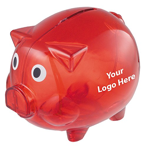 Piggy Bank - 150 Quantity - $2.65 Each - PROMOTIONAL PRODUCT / BULK / BRANDED with YOUR LOGO / CUSTOMIZED by Sunrise Identity