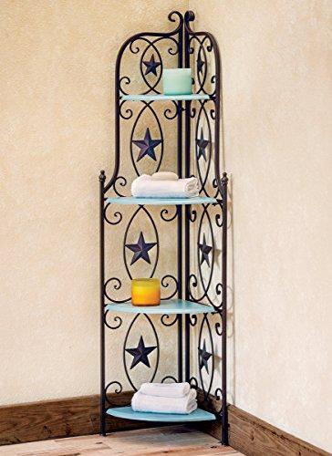 Star Corner Shelf with Turquoise Wood - Western Decor
