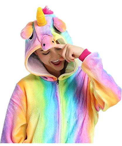 Anime camicie notte Unicorno Monopezzi Costumi Unicorno Pigiami Adulti Costume travestimenti da Sport Pigiama Animale VineCrown e Rainbow Attrezzatura Halloween Cosplay xBpIqPPw