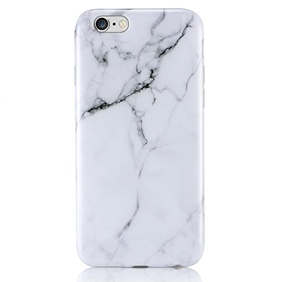 save off 90d95 80de5 Amazon.com: iPhone 6 6s Case, Leminimo White Marble Design, Slim TPU ...