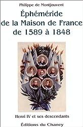 Ephéméride de la Maison de France de 1589 à 1848 : Henri IV de ses descendants