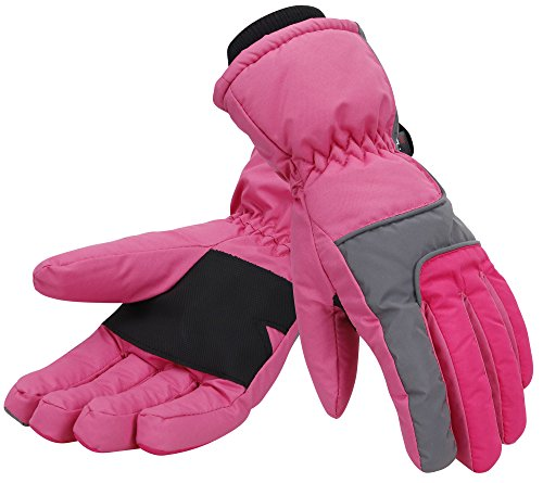 - Women Thinsulate Insulated Lined Waterproof Snowboard/Ski Gloves,M,Pink