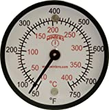 Winters TMT Series Steel Dual scale Surface Magnet Thermometer, 2'' Dial Display, +/-2% Accuracy, 50-750 F/C Range