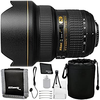 Nikon AF-S NIKKOR 14-24mm f/2.8G ED Lens - 6PC Accessory Bundle Includes Deluxe Starter Kit + Lens Cap Keeper + Memory Card Wallet + Lens Storage Pouch + Microfiber Cleaning Cloth