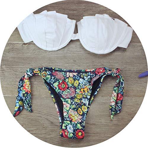 floral hoop Bikini 2019 Brazilian Biquini Girl Swimwear wome Sexy Thong Women Swimsuit Thong Bathing Suit,6,XL
