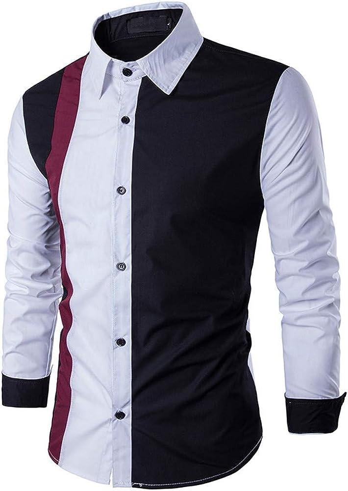 iLXHD Long Sleeved Patchwork Fastener Sweatshirts