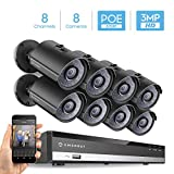 Amcrest 3MP Security Camera System, w/ 4K 8CH PoE NVR, (8) x 3-Megapixel 2.8mm Wide Angle Lens Weatherproof Metal Bullet PoE IP Cameras, NV2108E-IP3M-954EB8 (Black) Review