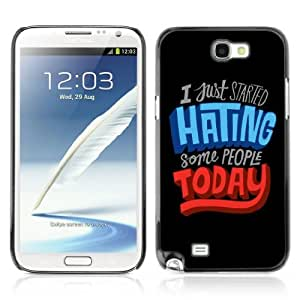 YOYOSHOP [Funny Message C Hate People] Samsung Galaxy Note 2 Case by Maris's Diary