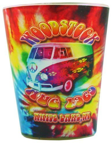 #SG107 Woodstock Tie Dye Shot Glass (Qtys of 6) fun reol4p2d39 n934kt00ji10 gifts toys accessories