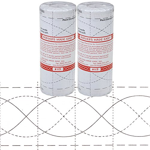 Bundle of 2 Packages of Borders Made Easy Pattern 113, 4in x 26' by Borders Made Easy