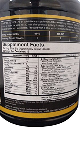 BioRhythm AfterGlow Post Workout Protein Supplement – ORIGINAL FLAVORS Macronutrient Recovery Powder, Build Muscle Faster & Recover More Completely. Awesome Flavors – Bazooka Fruit & Watermelon