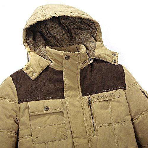 Veste Armygreen Moyen Coton Tops up Hiver Couleur Veste D'âge Stand DécontractéÉpaissi Hommes Unie Coton ExOAq0HHw