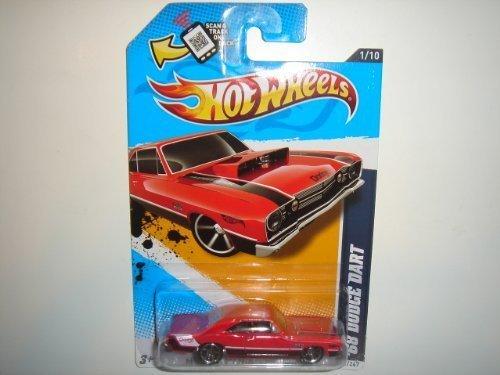 Hot Wheels 2012 68 Dodge Dart Car Red Muscle Mania Mopar 81