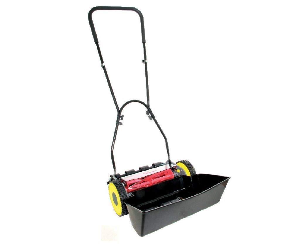 WOLF-Garten WPCM-F Hand Push Cylinder Garden Mower with 5 Helix Carbon Steel Blades